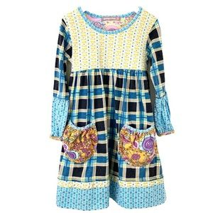 Jelly the Pug Popin Plaid Delaney Knit Dress 6
